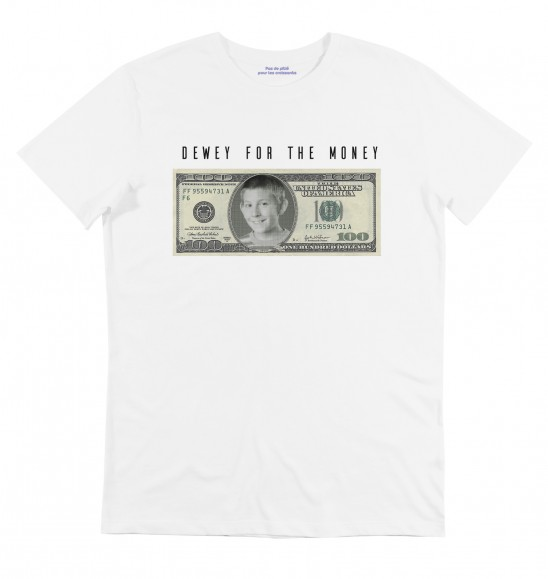 T-shirt pour Homme Dewey For The Money de couleur Blanc
