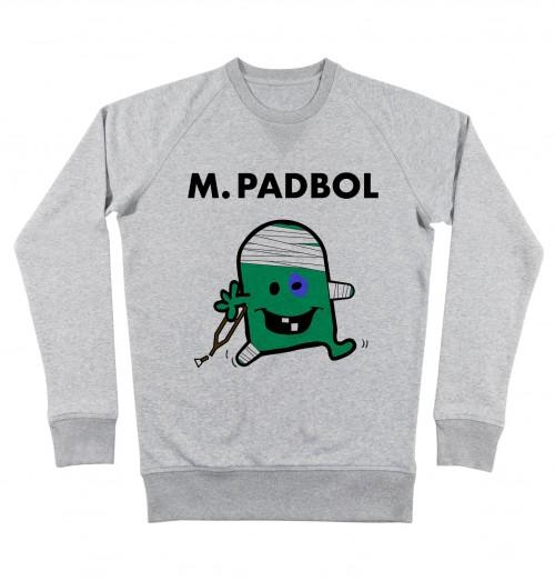 Sweat pour Homme Monsieur Padbol de couleur Gris chiné