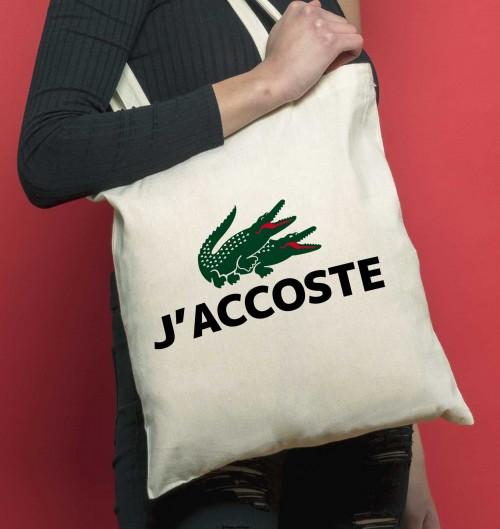 Tote Bag J'Accoste de couleur Crème