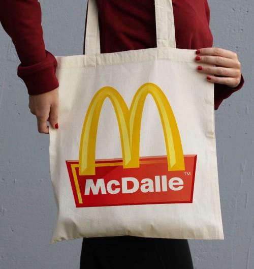 Tote Bag McDalle de couleur Crème