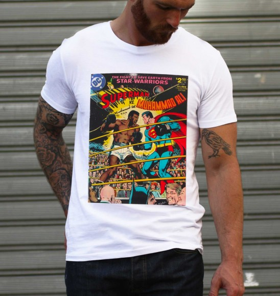 T shirt Superman vs. Ali 100% coton bio