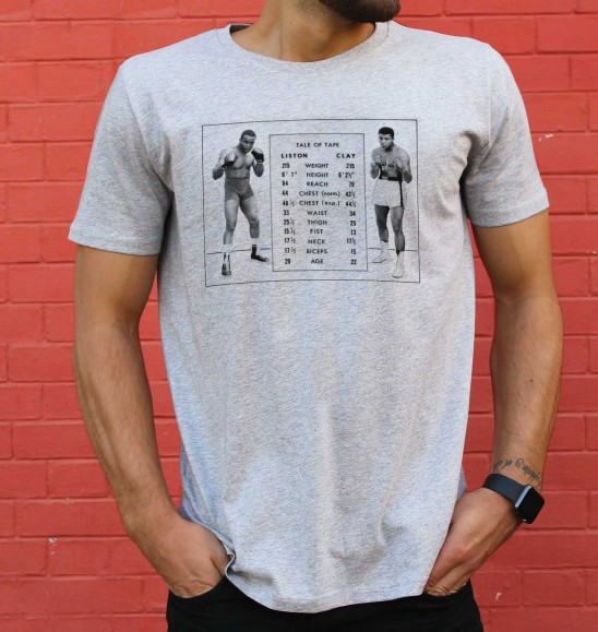 T-shirt pour Homme Clay vs. Liston de couleur Gris chiné