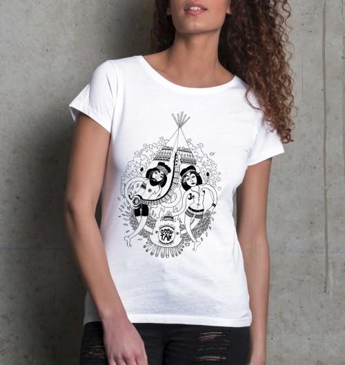 T-shirt pour Femme Bali de couleur Blanc