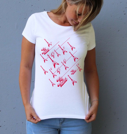 T-shirt pour Femme No Rules de couleur Blanc