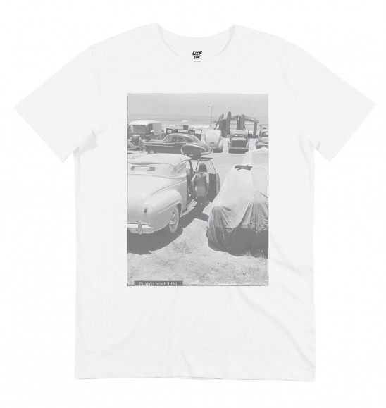T-shirt pour Homme Surf in the 50's de couleur Blanc
