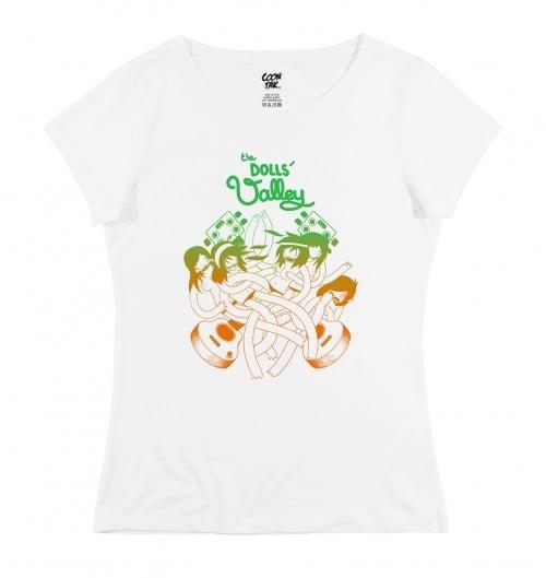 T-shirt pour Femme Dolls Valley de couleur Blanc