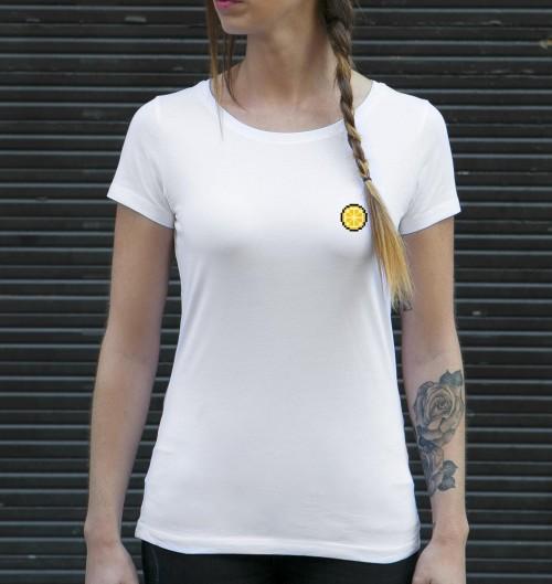 T-shirt pour Femme Femme Pixel Citron de couleur Blanc