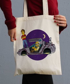 Tote Bag Doc + Marty par ADN