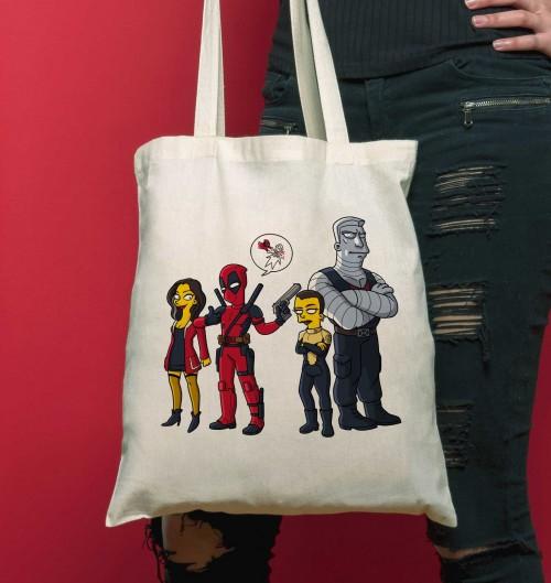 Tote Bag Deadpool de couleur Crème