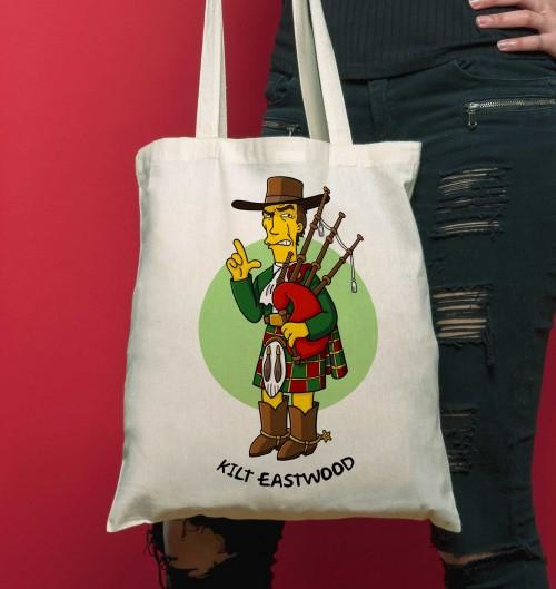 Tote Bag Kilt Eastwood de couleur Crème