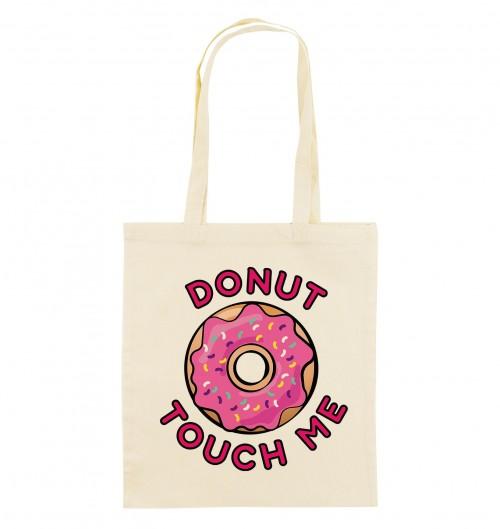 Tote Bag Donut Touch Me de couleur Crème