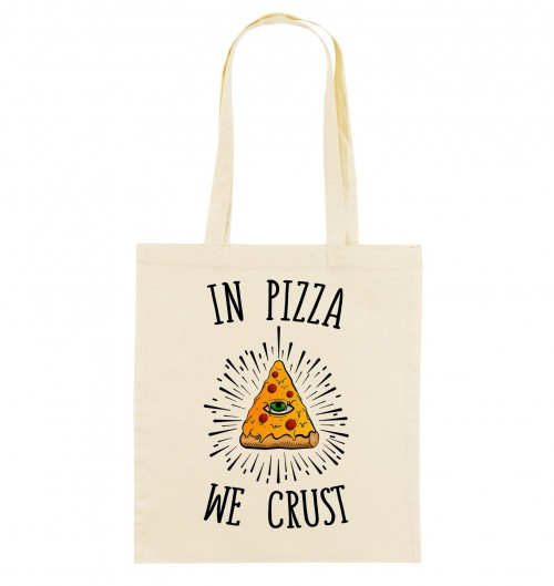 Tote Bag In Pizza We Crust de couleur Crème