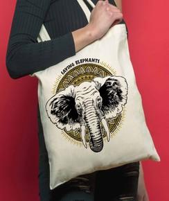 Tote Bag Elephants de la marque Coontak