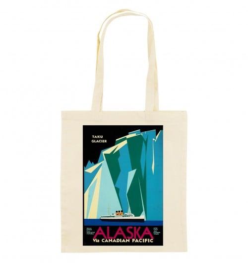 Tote Bag Alaska Glacier de couleur Crème