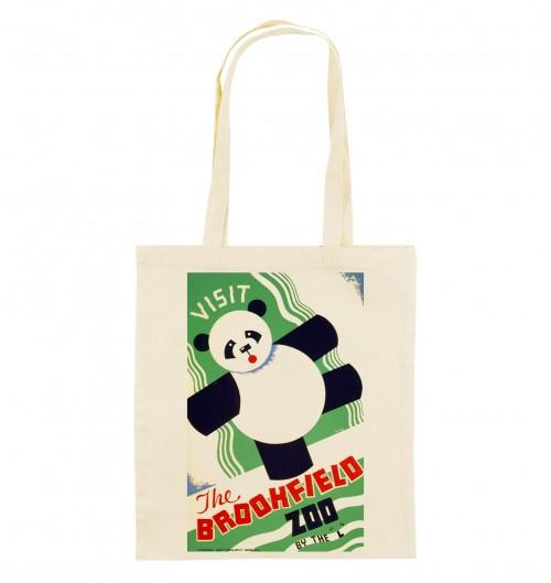 Tote Bag Panda Zoo De Brookfield de couleur Crème
