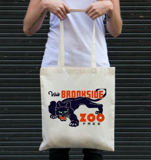 Tote Bag Visit Brookside Zoo Free de couleur Crème