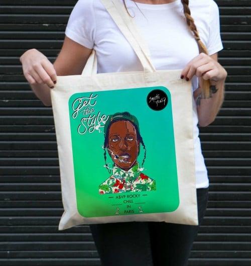Tote Bag A$AP Rocky de couleur Crème
