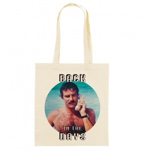 Tote Bag Back In The Days de couleur Crème