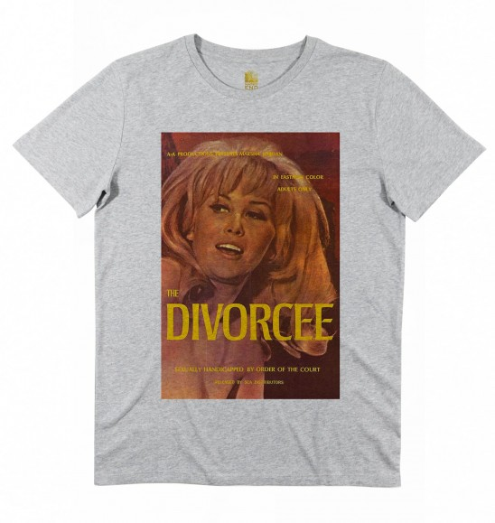 T-shirt pour Homme The Divorcee de couleur Gris chiné