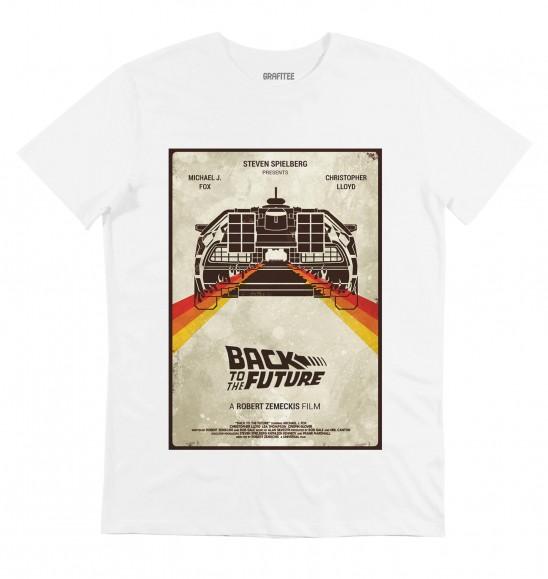 T-shirt pour Homme Back To The Future de couleur Blanc