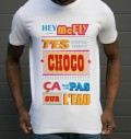 T-shirt à col rond Hoverboard Choco