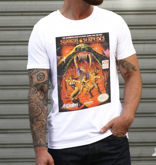 T-shirt pour Homme Swords and Serpents de couleur Blanc