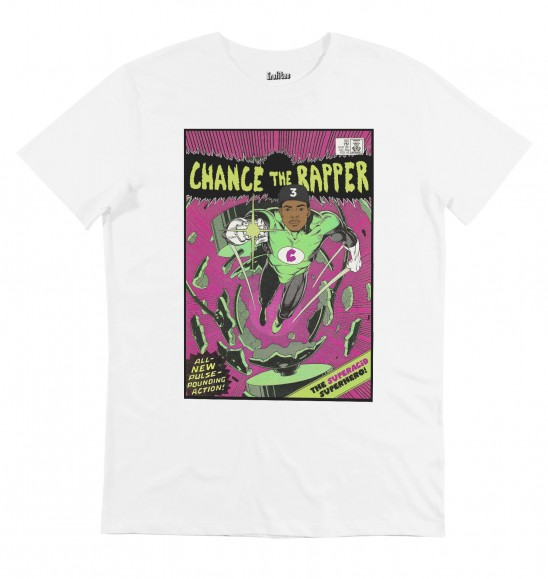 T-shirt pour Homme Chance The Rapper de couleur Blanc