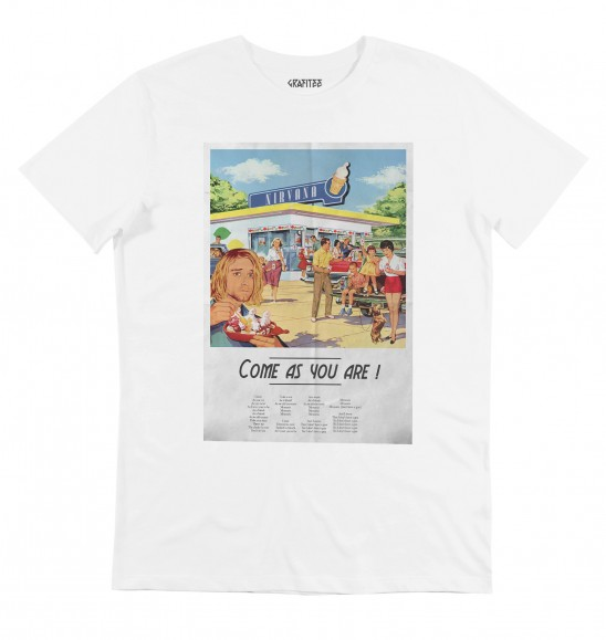 T-shirt pour Homme Come As You Are de couleur Blanc