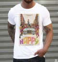 T-shirt à col rond Happy par Ads Libitum