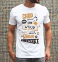 T-shirt à col rond Chop Your Own Wood par Snevi