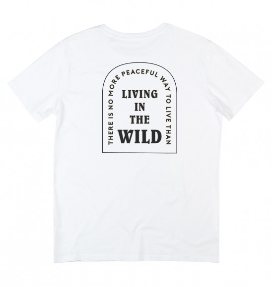 T-shirt pour Homme Living in The Wild de couleur Blanc