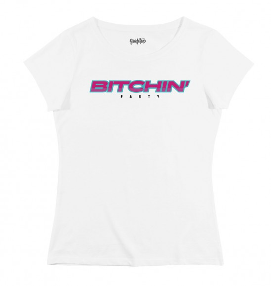 T-shirt pour Femme Bitchin' Party de couleur Blanc