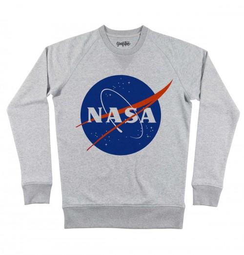 Sweat pour Homme NASA de couleur Gris chiné