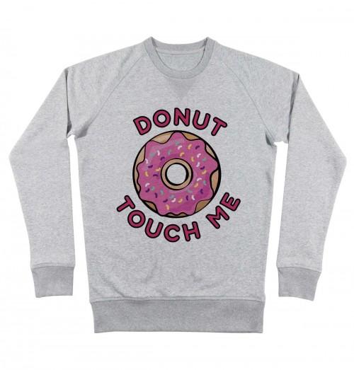 Sweat pour Homme Donut Touch Me de couleur Gris chiné
