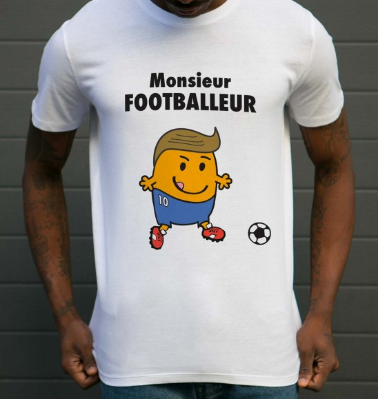 t shirt monsieur footballeur grafitee. Black Bedroom Furniture Sets. Home Design Ideas