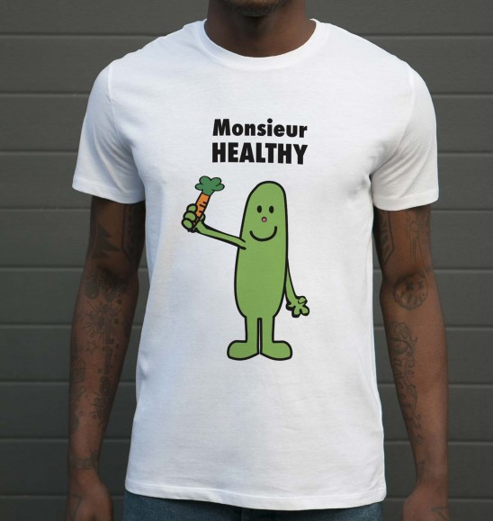 t shirt monsieur healthy tshirt d tourn monsieur madame. Black Bedroom Furniture Sets. Home Design Ideas