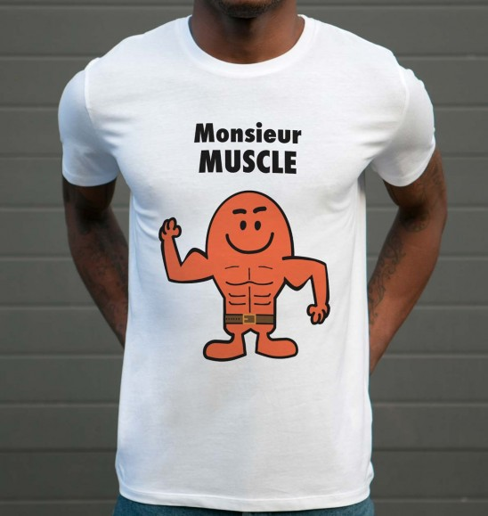 T-shirt 100% coton Monsieur Muscle