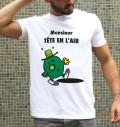 T-shirt 100% coton bio Monsieur Tête En L'Air