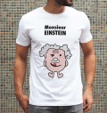 T-shirt à col rond Monsieur Einstein