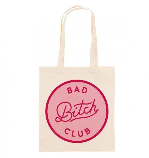 Tote Bag pour Femme Bad Bitch Club de couleur Crème