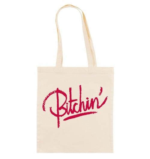 Tote Bag pour Femme Bitchin' de couleur Crème