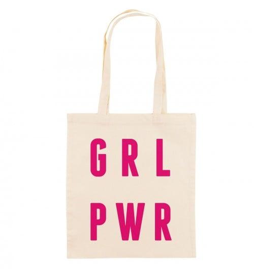 Tote Bag pour Femme Grl Pwr de couleur Crème