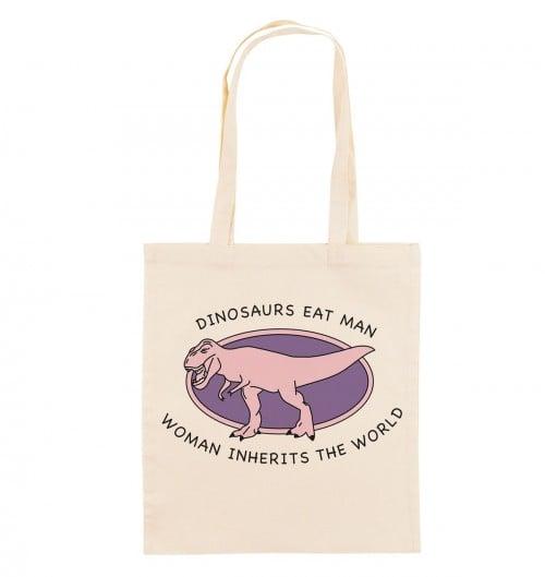 Tote Bag pour Femme Woman Inherits The World de couleur Crème