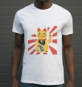 T-shirt à col rond Maneki Neko par Sweet-As