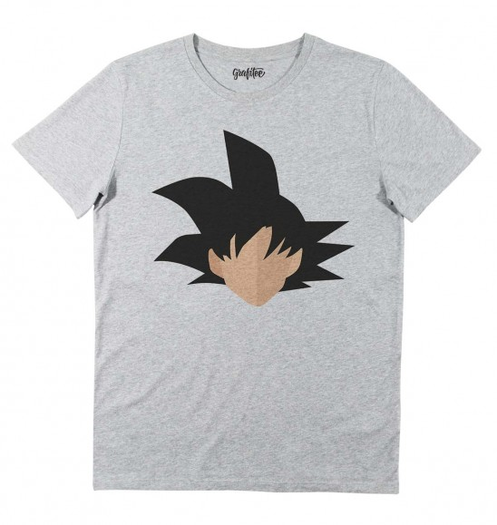 T-shirt pour Homme Abstract Son Goku de couleur Gris chiné