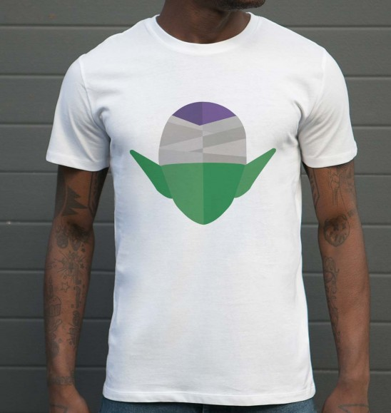 T-shirt pour Homme Abstract Piccolo de couleur Blanc