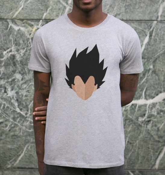 T-shirt pour Homme Abstract Vegeta de couleur Gris chiné