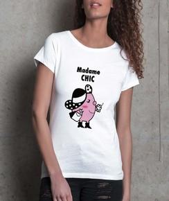 T-shirt à col rond Madame Chic