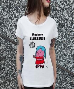 T-shirt à col rond Madame Clubbeuse