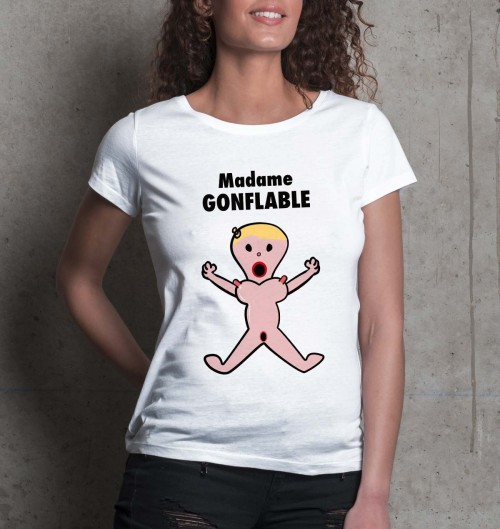 T-shirt 100% coton Madame Gonflable